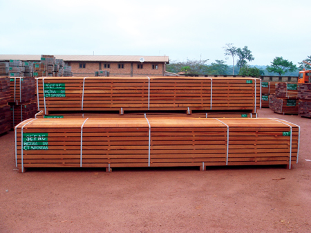 Figure 6 - Timber storage in the Libongo area